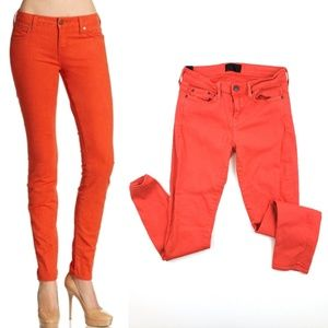 Vince Jeans Orange Skinny Fit Pants SZ 28 Colored